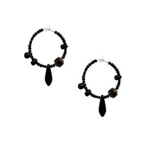 BLACK SHADOW EARRING